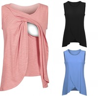 Plus Size Summer Wear Sleeveless Maternity Tees 2018 Breastfeeding Shirts For Women Nursing Tops Women Maternity