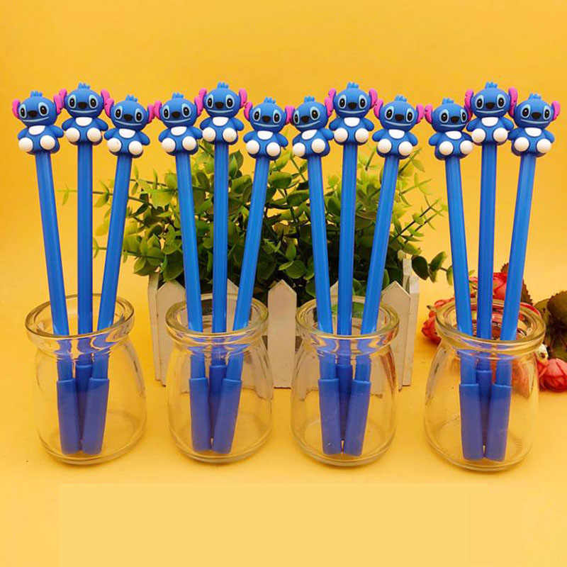 4 Pcs Kawaii Cute Cartoon Stitch Gel Pen School Office Supply Student Stationery Writing Signing Tool Gifts