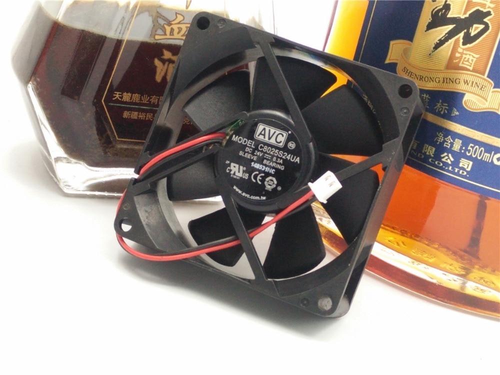 Free Shipping Wholesale Avc c8025s24ua 24v 0.3a inverter fan 8cm 8025 80x80x25mm 80mm server inverter blower cooling cooler free shipping for nmb bg1203 b058 p00 l2 dc 24v 1 30a 3 wire 3 pin connector 50mm 120x120x32mm server blower cooling fan