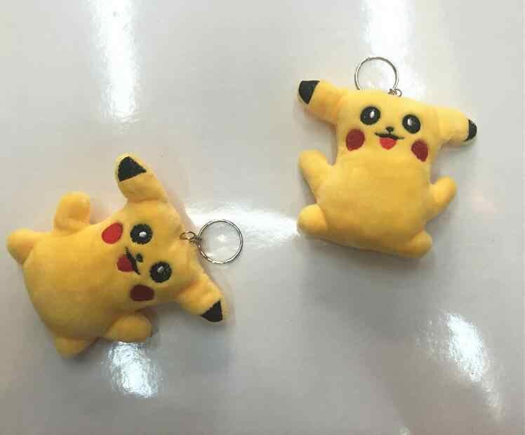 Duende dos desenhos animados Pokemon Pikachu Chaveiro Bonito Brinquedo de Pelúcia Pingente de Chave Saco 8 CENTÍMETROS Presente Jóias Acessórios