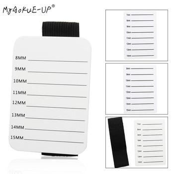 Eyelash Tray Strip Stand Acrylic Adhesive Pallet Holder Pad Eyelash Extensions Hand Plate Makeup Tools 1