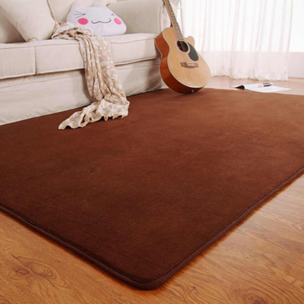Adasmile ファッション低反発ソリッドマットラグマット寝室マットカーペット玄関廊下リビングルーム台所の床屋外