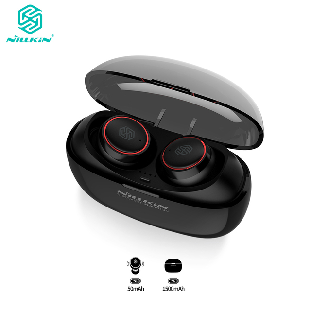 NILLKIN TWS 5.0 Bluetooth headphone 3D stereo wireless earphone IPX4 water resistance Handsfree Earbuds with charging case