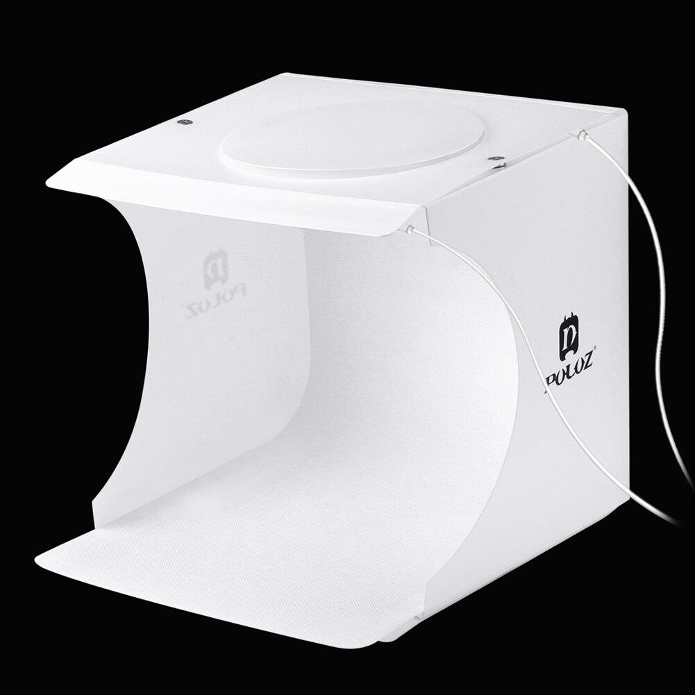 Portable 2 LED Panneaux Pliage lightbox Photographie Photo Studio Softbox Kit D'éclairage boîte à Lumière pour iPhone Numérique Appareil Photo REFLEX NUMÉRIQUE