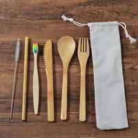 Juego De cepillo De dientes De bambú respetuoso con el medio ambiente De 6 paquetes De cepillo De dientes De bambú libre De plástico