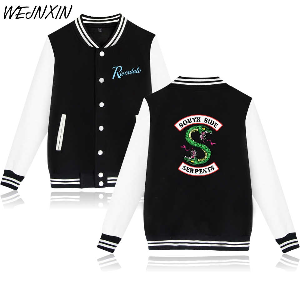 VAGROVSY 2018 Fashion American TV Album Riverdale Baseball Jacket Fleece Sweatshirts Women Men Casual Fans Hoodies Moletom
