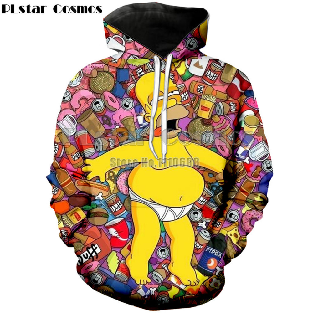 PLstar Cosmos fashion 3D print Anime Pocket Hooded Sweatshirts Hoodies Pullovers Men Women Long Sleeve Outerwear New brand