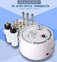 Многофункциональный 3 in1 Новый Алмаз Микрокристаллическая дермабразия машина с вакуумным зажимом для Черный инструмент для удаления черны