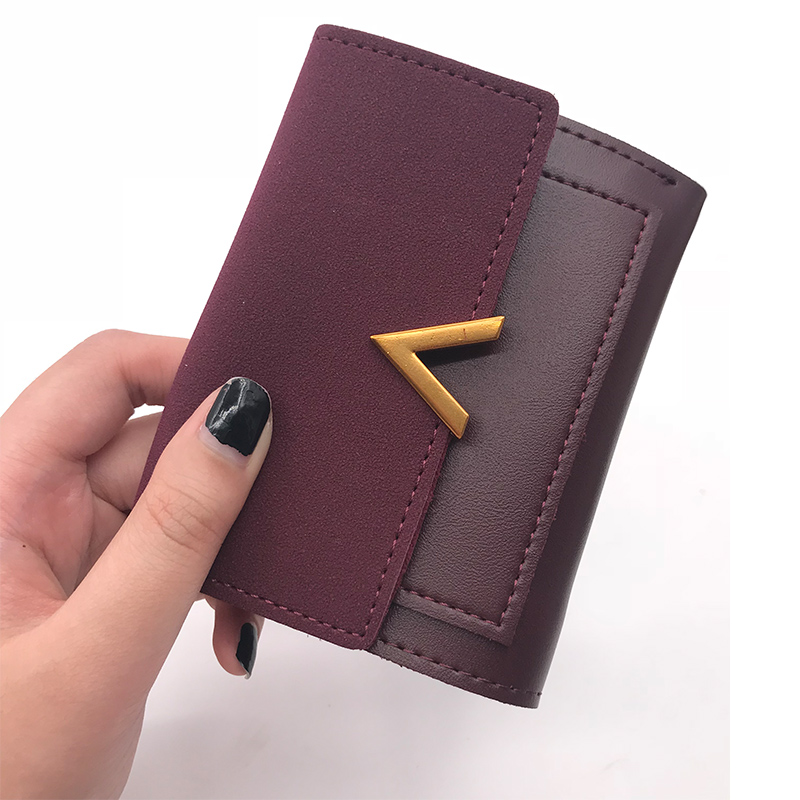Matte Leather Small Women Wallet Luxury Brand Famous Mini Womens Wallets And Purses Short Female Coin Purse Credit Card Holder 6