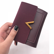 Matte Leather Women Small Pouch Luxury Brand Famous Mini Women Wallets And Short Handbags