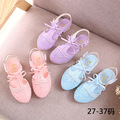 Sandálias meninas 2016 Venda Quente Floral Meninas Sapatos Princesa Sapatos Único para Crianças Menina Crianças Moda Sneakers PU Com Bowknot