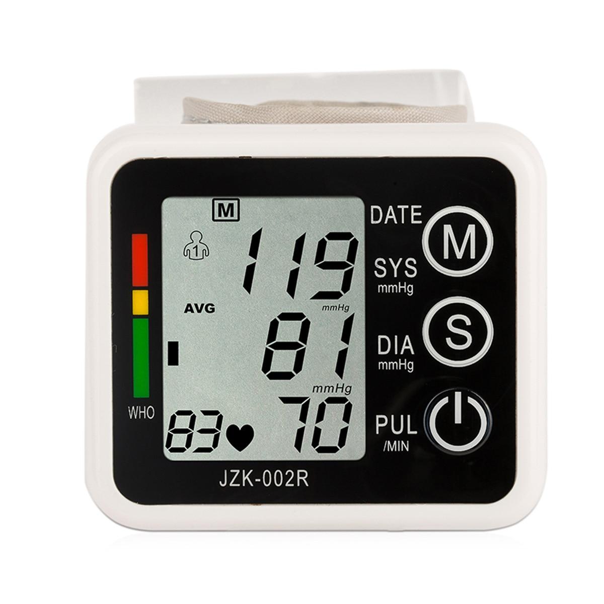 Home Gesundheit Pflege 1 stücke Digital LCD Oberen Handgelenk Blutdruck Monitor Heart Beat Meter Maschine Tonometer Für Mess Automatische