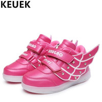 Spring Autumn Children Lighted Wings Light Shoes Boys Girls Rechargeable USB Luminous Shoes Baby Casual Sneakers