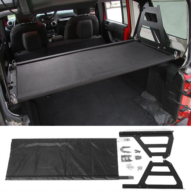 2ae754d7ad6 Newest Rear Trunk Cargo Holder Luggage Storage Carrier Modify Interior Parts  Steel For Jeep Wrangler 07 Up Free Shipping