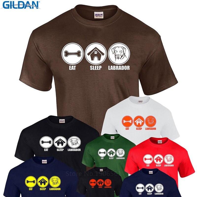 For Male  Mal Eat Sleep Labrador Retriev Dog Lab Face T Present Lov Pet Men Sleeve Best Friend Shirts
