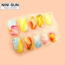 2016 New Fashion Completely Curved Fake Nail Tips  Full Cover  False Nails Artificial Nails For Free High Quality