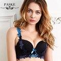 2016 Luxo V Profundo Conjunto de Lingerie Nova Marca Sexy Push Up Conjunto de sutiã Bordado Floral Lace Bra Panty Set Mulheres Conjuntos de Roupa Interior BS361