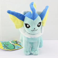 20CM Vaporeon Plush toy stand styles figures Toys Soft Stuffed Anime Cartoon Dolls Gift