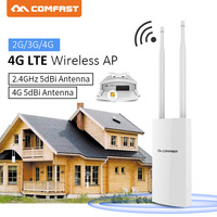 Comfast CF E5 IP66 Waterproof 2.4G 4G LTE Wireless AP WiFi Router plug and play 4G SIM card 4G Wireless Router with dual antenna
