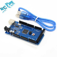 Free Shipping MEGA 2560 R3 ATmega2560 R3 AVR USB Board Free USB Cable For