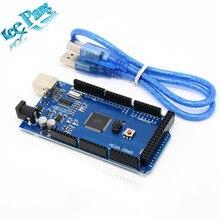 Free shipping !!! MEGA 2560 R3 !!! ATmega2560 R3 AVR USB board + Free USB Cable for Arduino 2560 MEGA2560 R3