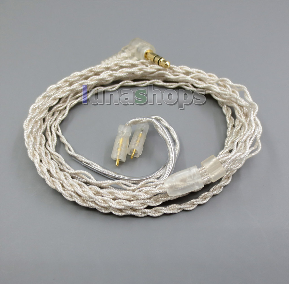 With Earphone Hook Silver Foil PU Skin Cable For Ultimate Ears UE TF10 SF3 SF5 5EB 5pro TripleFi 15vm