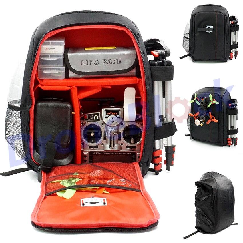 Fpv corrida zangão quadcopter mochila transportar saco ao ar livre ferramenta para multirotor rc asa fixa faísca comparável com betaflight