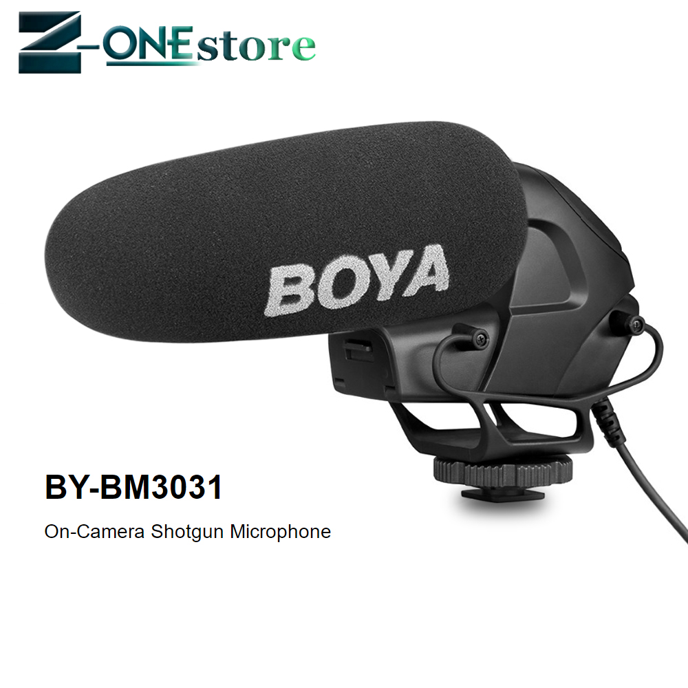 BOYA BY BM3031 Supercardioid Condenser Interview Capacitive Microphone Camera Video Mic for Canon Nikon Sony DSLR