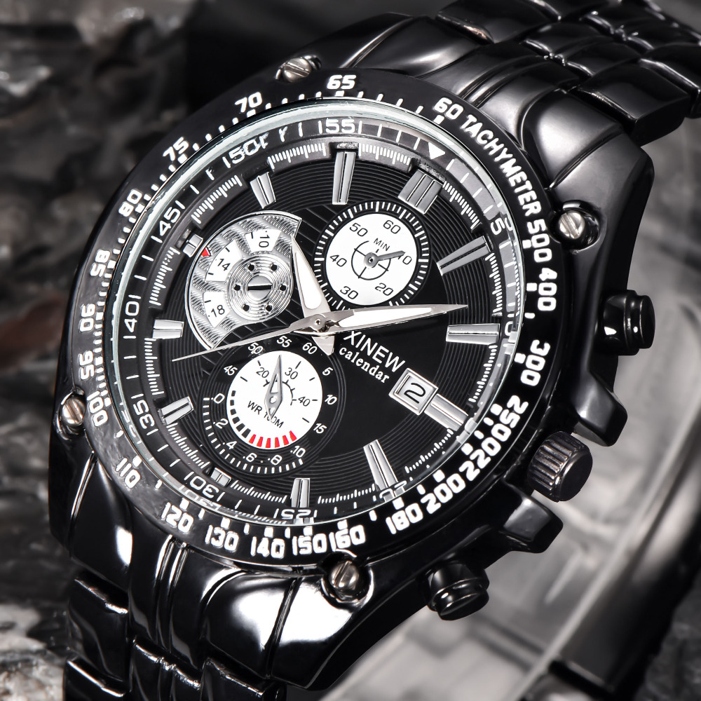 Brand Luxury full stainless steel Watch Men Business Casual quartz Watches Military Wristwatch Relogio New SALE montre reloj Hot curren brand luxury men watch full stainless steel watches business casual quartz colck military sport wristwatch relogio 8023