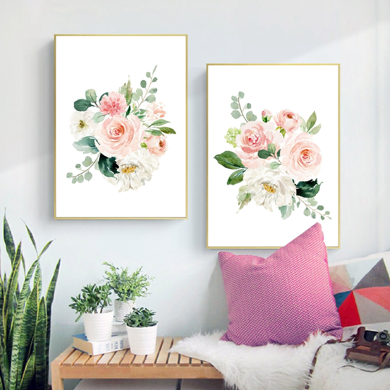 Floral Canvas Painting Home Decor