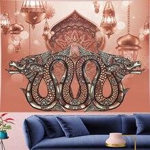 Morocco Psychedeli Double dragon Tapestry mandala Wall Hanging hippies indian Home Decor bohemian wall cloth Beach Mat GN.PAPAYA