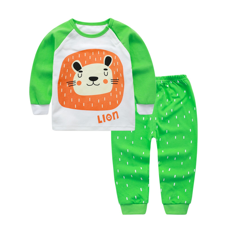 Children's Suit Baby Boy Clothes Set Cotton Long Sleeve Sets For Newborn Baby Boys Outfits Baby Girl Clothing Set Suits Pajamas 2pcs clothes set baby boy girl dinosaur character short sleeve top striped shorts outfits children clothing