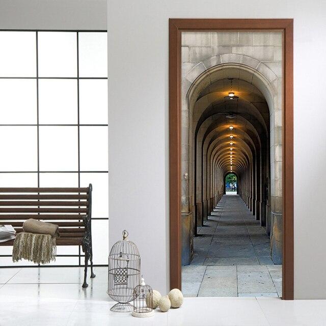 3D Stereo Arco Galleria Foto Murale Carta Da Parati Soggiorno Studio ...