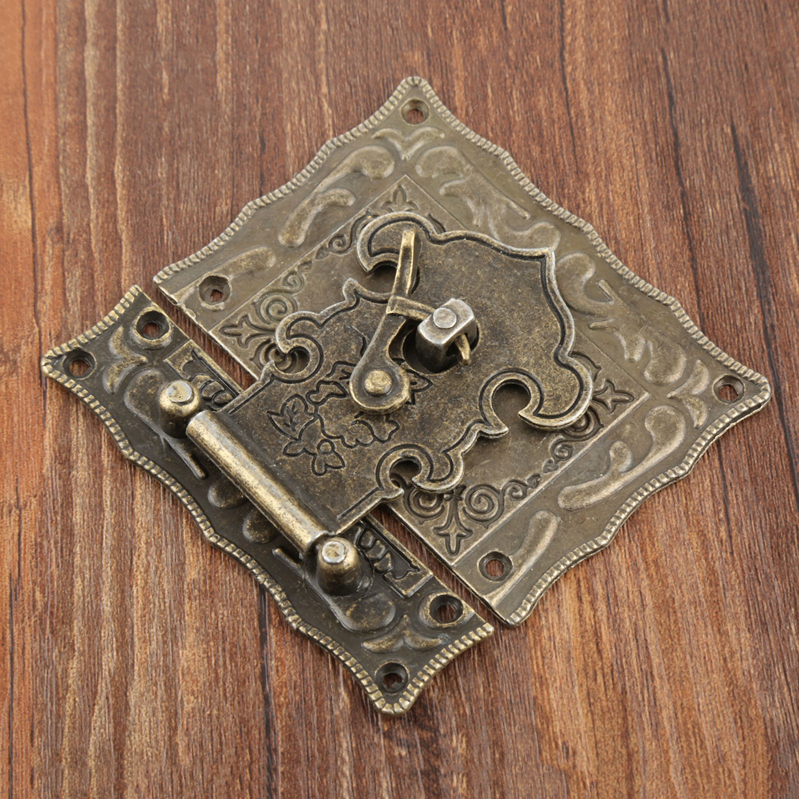 Chinese Antique Bat Pure Copper Small Drawer Wooden Box Pull Handle Funiture 1X