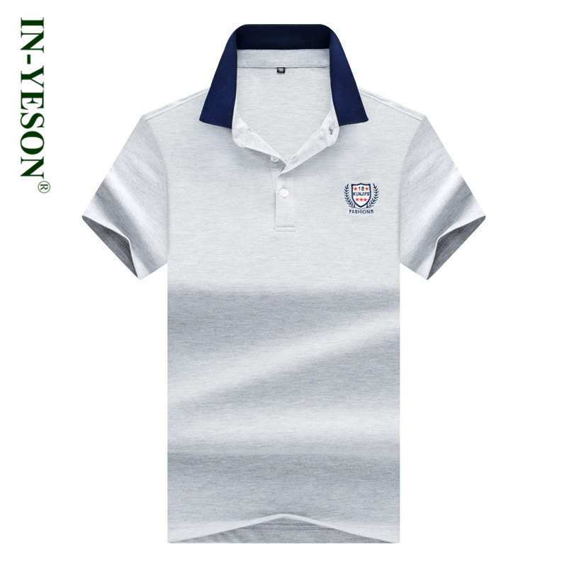 IN-YESON Brand Mens   Polo   Shirt European Style 2018 Summer Embroidery   polos   para hombre Fashion Casual US camisa   polo   masculina