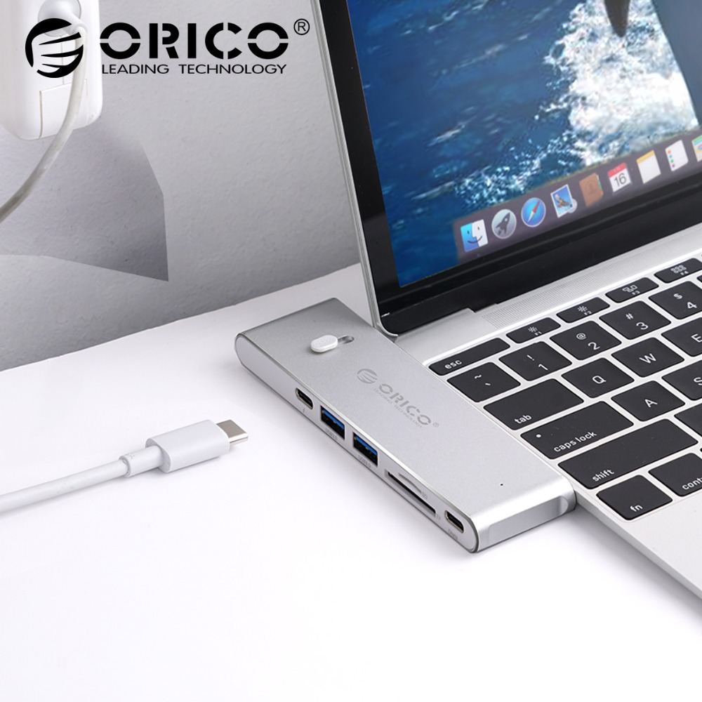 ORICO USB HUB USB C to HDMI USB3.0 TF/SD Card Reader Type-C PD Adapter For Mac/Samsung Galaxy/ Huawei Type C USB 3.0 HUB 7 in 1 usb c type c hub to hdmi sd tf card reader usb 3 0 rj45 pd charging adapter for macbook samsung galaxy usb c hub