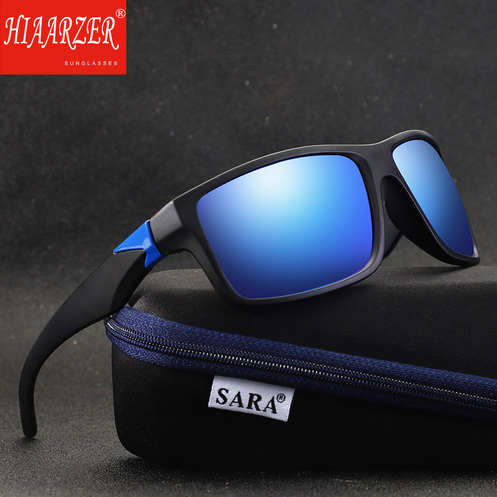 Polarized Brand Bicycler Sunglasses Men Fishing Square Coating Mirror Goggles UV400 Sun Glasses Vintage Outdoor Eyewear With Box