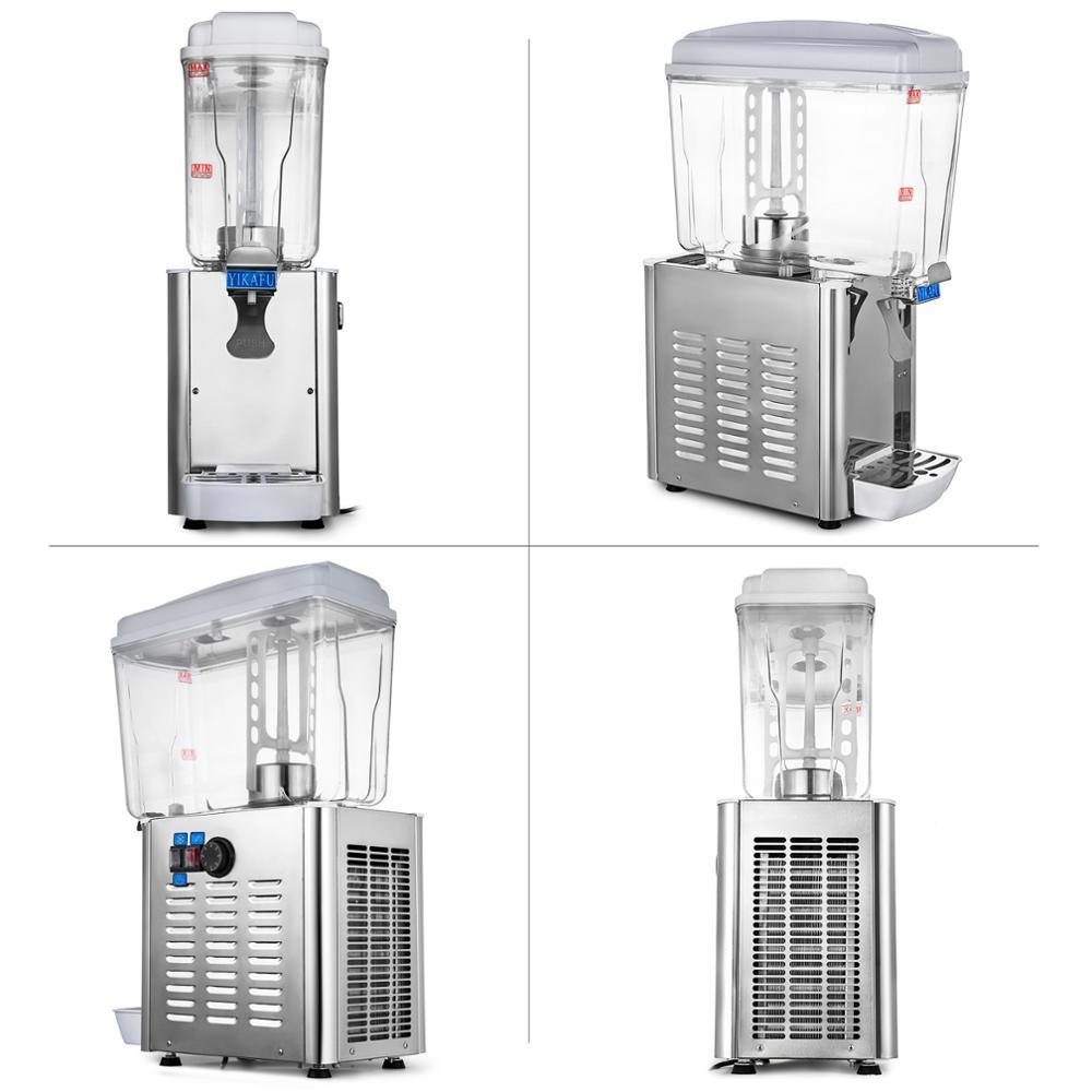 Mixing Power Is Huge Commercial 18L 4.75Gal Hot Cold Drink Juice Dispenser Beverage Milk Juicer