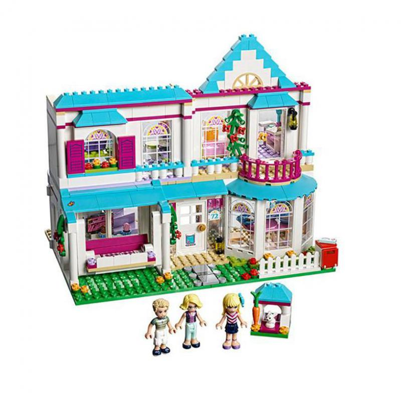 Diy Girl Friends The Stephanie's House Building Blocks Bricks Toys for Children Compatible with Legoingly 41314 for Girls Gift 808pcs diy new girls series the friendship house set building blocks bricks friends toys for children compatible legoingly 41340