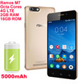 "5000mAh ramos M7 5"" HD Scree 2GB RAM 4G LTE 16GB Android 5.1 phone MTK6753 Octa Core 64-bit phone P1 T6 K10000 K6000 pro max"