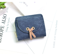 2019 New Brand Leather Women Wallet High Quality Design wallet Mini bag Zipper change purse for women