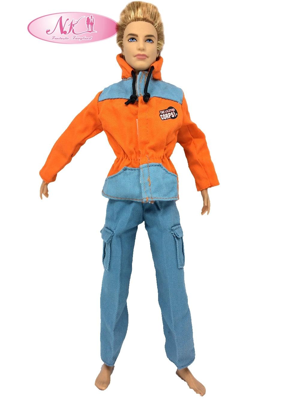 NK Prince Clothes Combat Polis Uniform Cop Outfit För Barbie Boy Man Ken Doll För Lanard 1/6 Soldier Bästa Present 015A