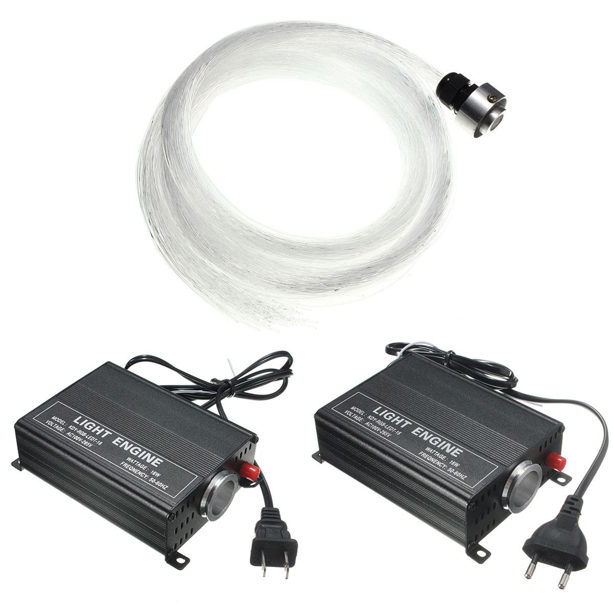 Meilleur 24key 16 couleur 150 pièces 0.75mm x 2 m fibre Optique Lumières RGB led voûte à étoile Lumière Kit Pour fibre Optique moteur léger Machine