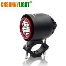 CNSUNNYLIGHT Motorcycle Turbo LED Headlight Spotlight Flashlight Strobe Light Super Bright 20W 3400Lm Fog Headlamp Driving Lamp