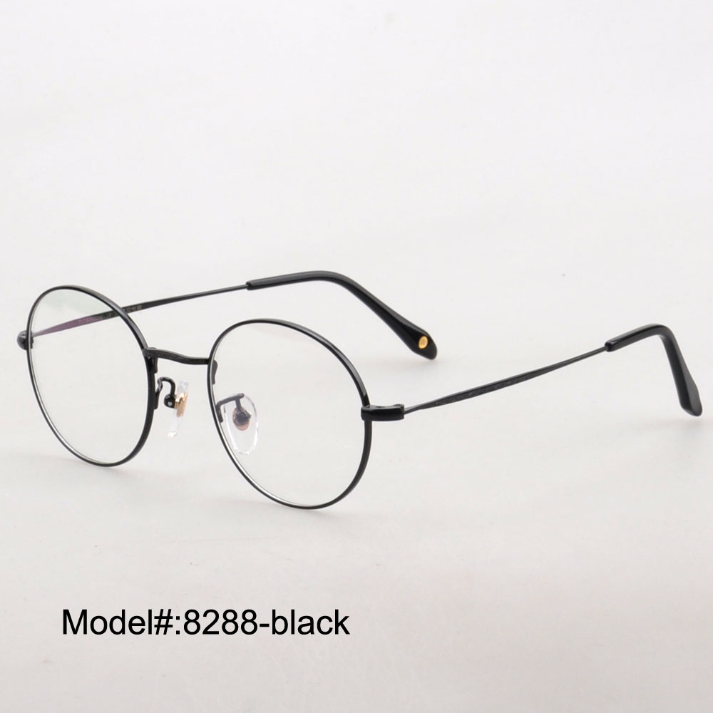 8288 full rim round unisex pure titanium RX optical frames myopia eyewear eyeglasses prescription spectacles