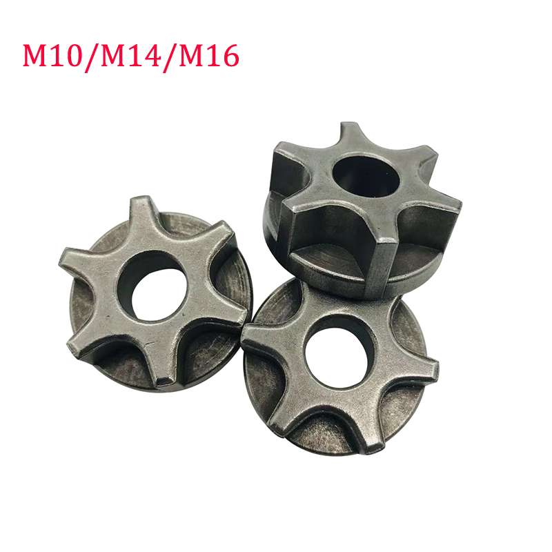 M10 M14 M16 Sprocket Chain Saw Gear For 100 115 125 150 180 Angle Grinder Replacement Gear Chainsaw Bracket Power Tool