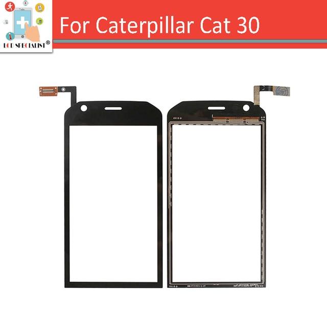 """4.5 """"НОВЫЙ Для Caterpillar CAT S30 Сенсорным Экраном Дигитайзер Датчик Внешний Стекло Емкостный Экран Черный + ЛОГОТИП"""