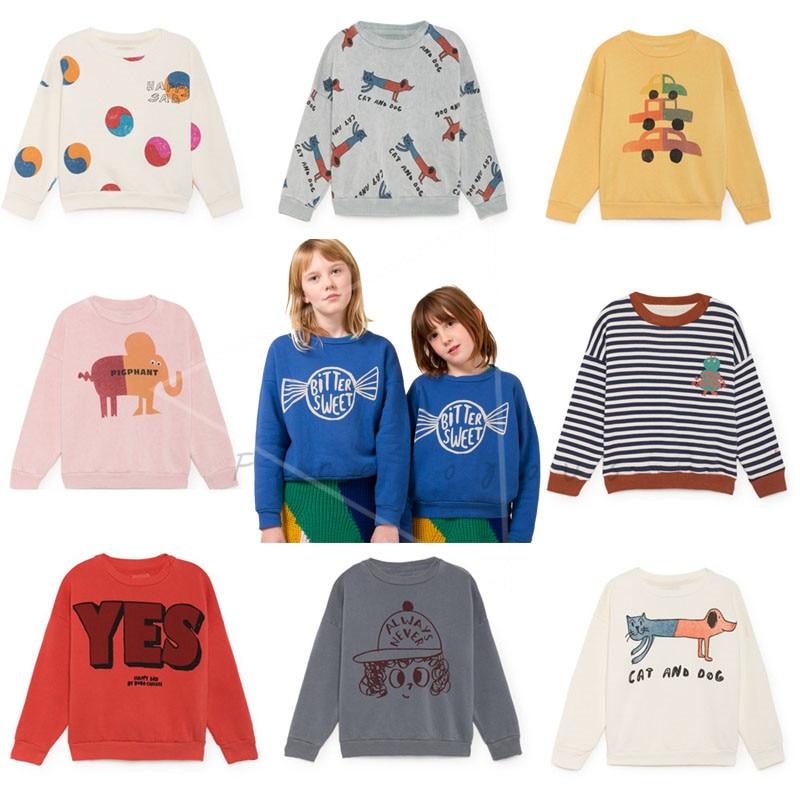 Kids Sweatshirts Baby Girls Clothes Long Sleeve Tops T-shirt Boys Cartoon Printed Sweatshirt Bobo Choses 2018 Autumn Winter New