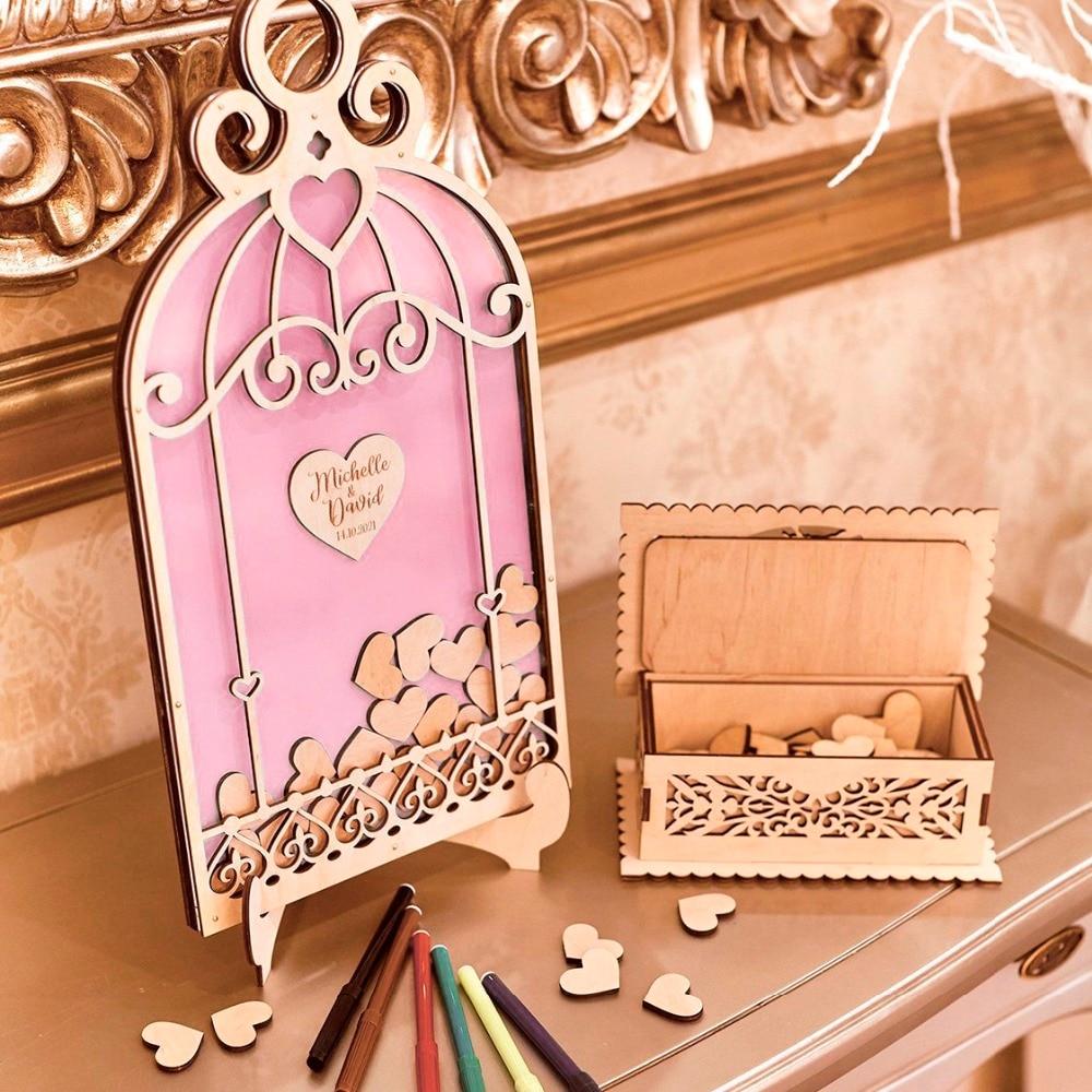 Oiseau cage Signature livre d'or, mariage invité livre Alternative, idées d'invités de mariage, Unigue mariage invité cadeau de mariage,