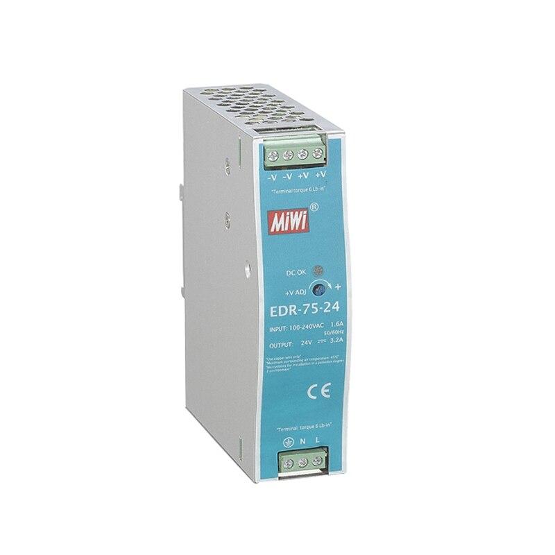 Output DC12V,24V,48V EDR 75,EDR 120,EDR150 AC DC Din rail Switching Power Supply